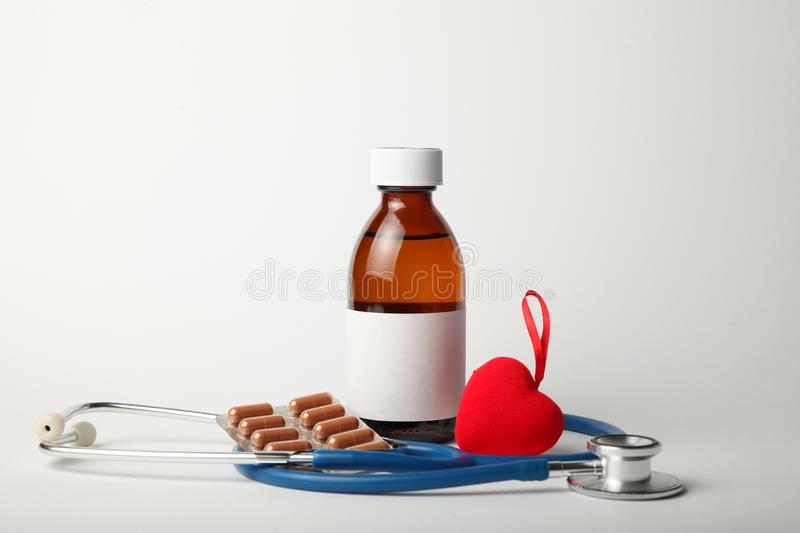 Medications for the heart, lowering blood pressure. Cardiovascular diseases stock photo