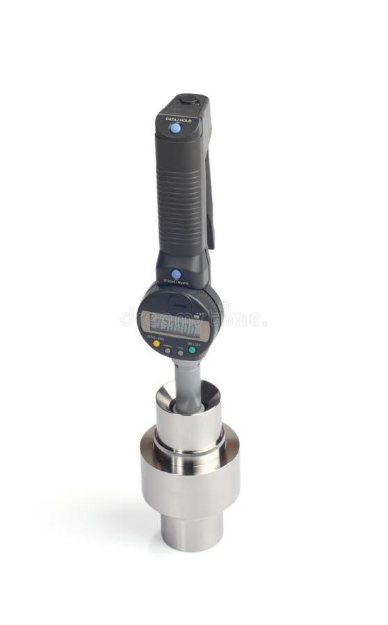Medición micrométrica fotografía de archivo