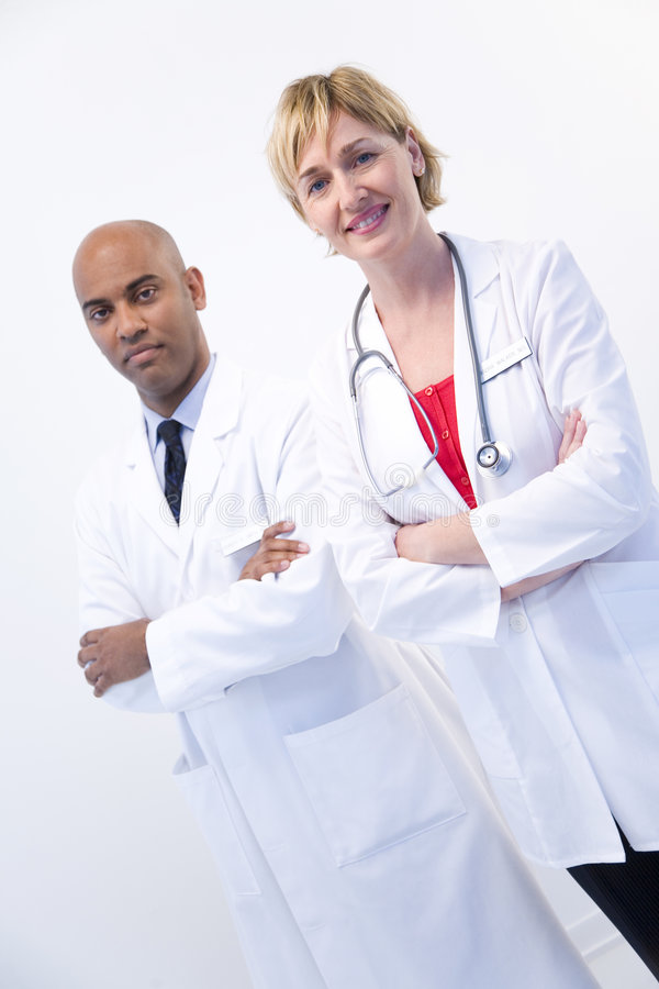 Medici astuti immagine stock