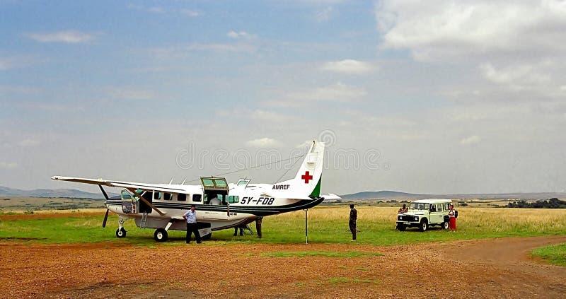 Medici di volo in Africa immagini stock libere da diritti