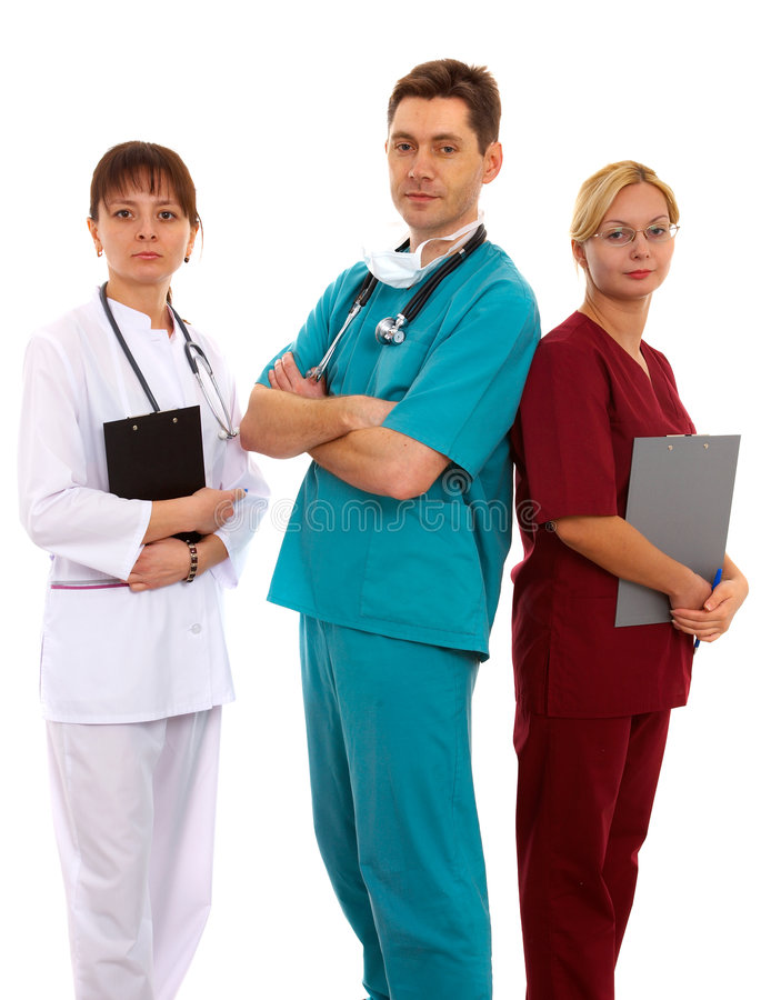 Medici ed infermiera fotografia stock