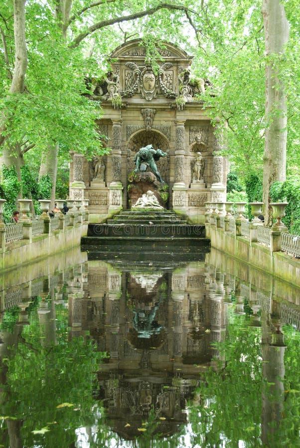 Medici Fontana-Lussemburgo fa il giardinaggio fotografie stock libere da diritti