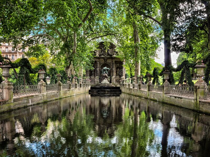 The Medici Fountain stock image