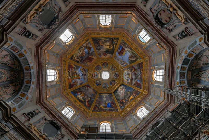 Medici kapell - Florence, Italien royaltyfria foton
