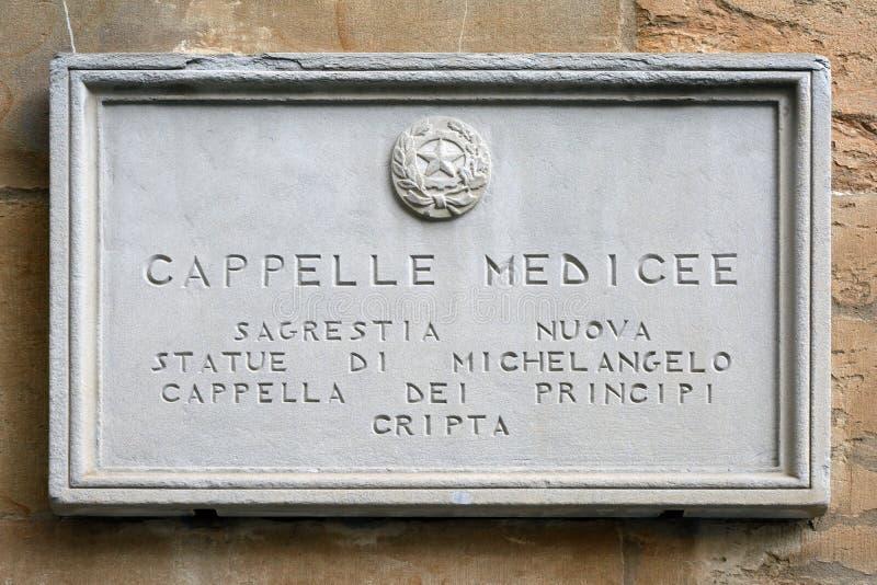 Medici kapell i Florence - Italien arkivfoto
