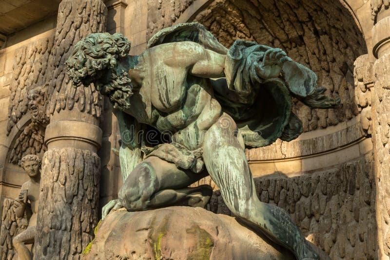 Medici springbrunn i den Luxembourg trädgården Jardin du Luxembourg, Paris royaltyfria foton