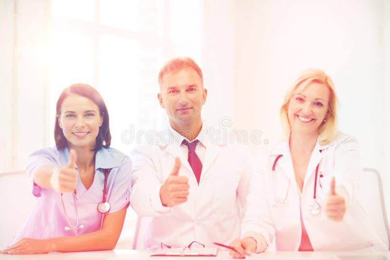 Medici su una riunione immagine stock libera da diritti