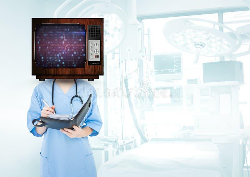 medician teking notatka w jej notatniku zdjęcie stock