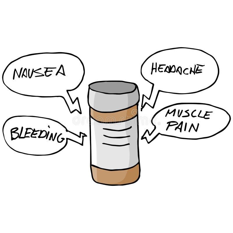 Medicijn Bijwerkingen stock illustratie