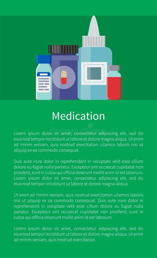 Medicijngeneesmiddel in Containers, Antibiotica royalty-vrije illustratie