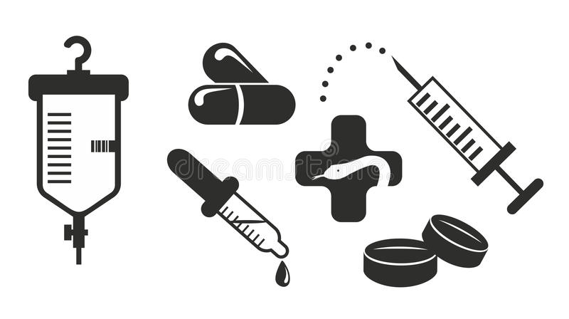 Medicin stock illustrationer
