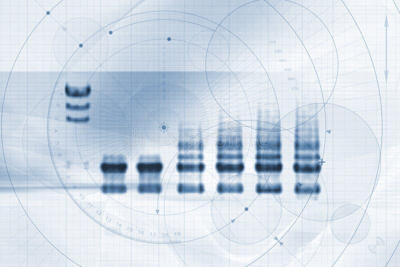 medicin för biotech graföversikt royaltyfri illustrationer