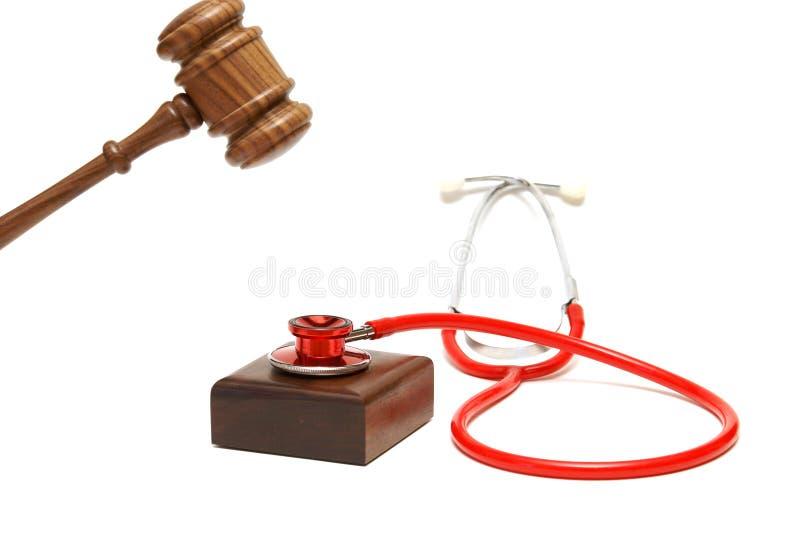Medicin och lag arkivbild