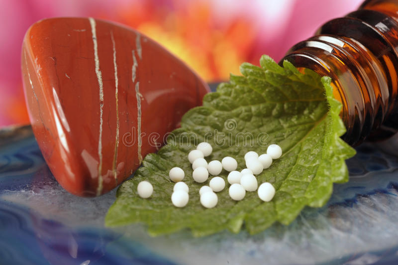 Medicina alternativa da homeopatia imagem de stock