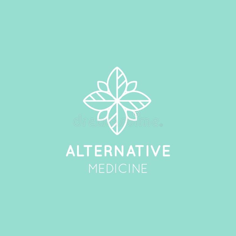 Medicina alternativa Terapia da vitamina, antienvelhecimento, bem-estar, Ayurveda, medicina chinesa ilustração stock
