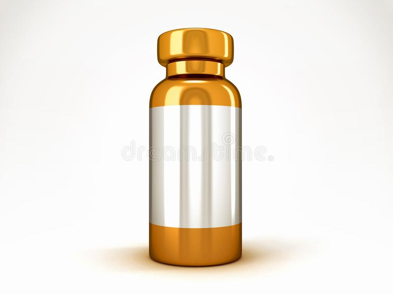 Medicina: Ampolla médica de oro stock de ilustración