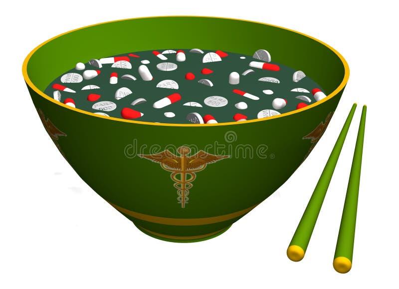 Medicina china libre illustration