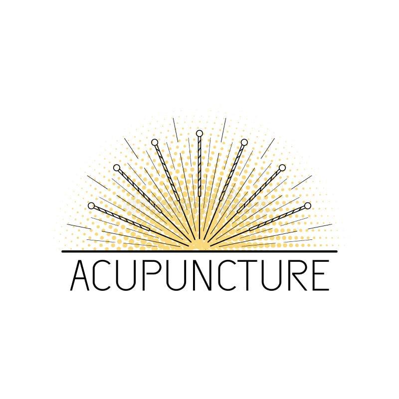 Medicina china tradicional de Acupunkture, stock de ilustración