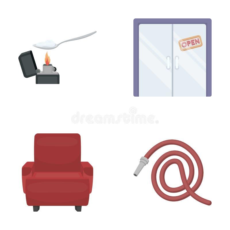 Medicina, comércio, natureza e o outro ícone da Web no estilo dos desenhos animados molhar, ponta, jardim, saúde, ícones na coleç ilustração do vetor