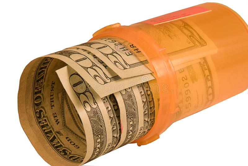 Medicina costosa fotografie stock