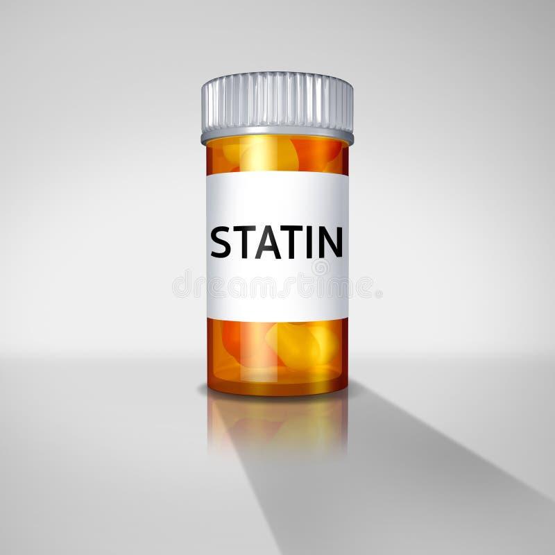 Medicina da farmácia dos Statins ilustração do vetor