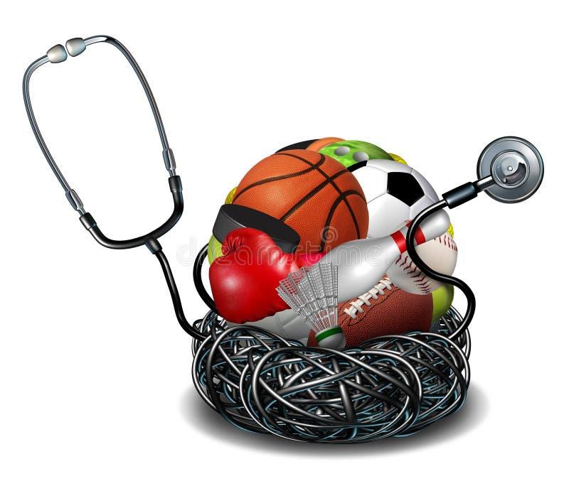 Medicina de deportes stock de ilustración