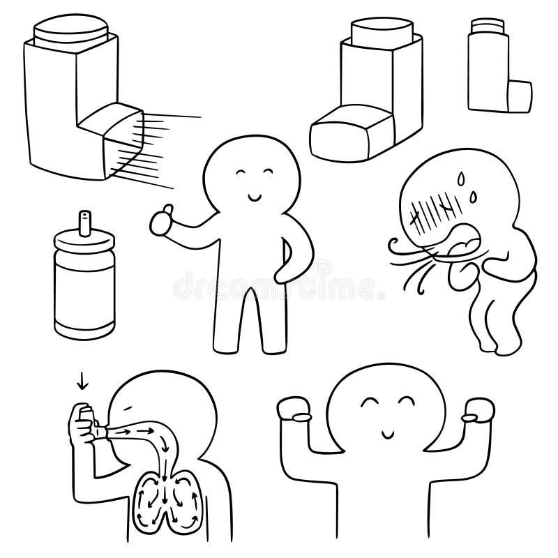 Medicina de la inhalación libre illustration