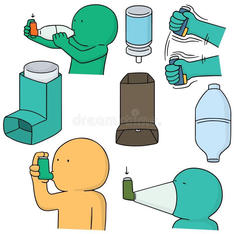 Medicina de la inhalación stock de ilustración