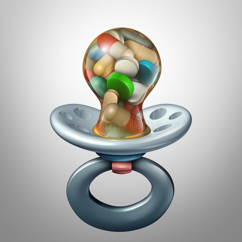 Medicina del bebé stock de ilustración