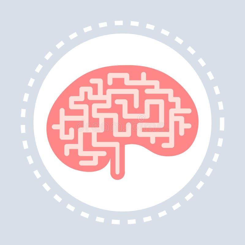 Medicina del logotipo del servicio médico de la atención sanitaria del icono del cerebro del órgano interno de la anatomía del cu ilustración del vector