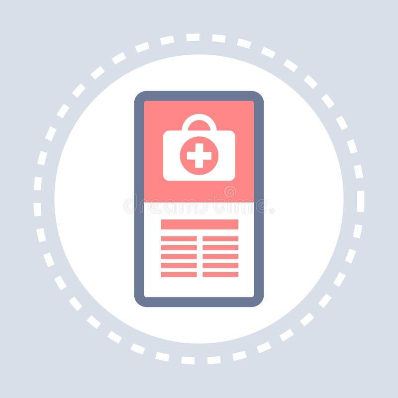 Medicina del logotipo del servicio médico de la atención sanitaria del icono del equipo de primeros auxilios de la aplicación móv libre illustration