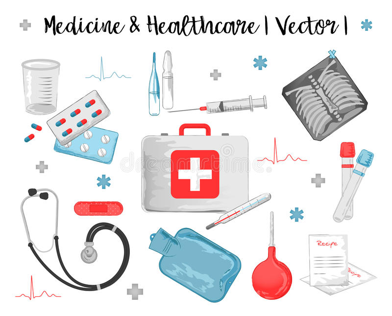 Medicina dell'acquerello illustrazione vettoriale