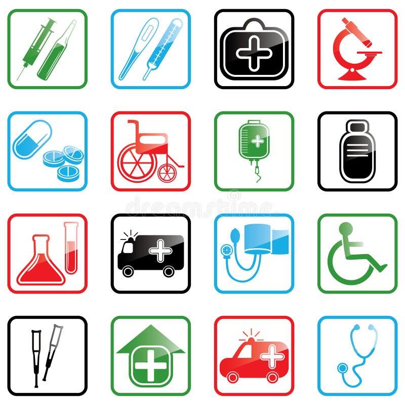 Medicina determinada del icono stock de ilustración