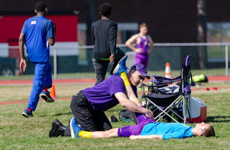 Medicina di atletica immagine stock