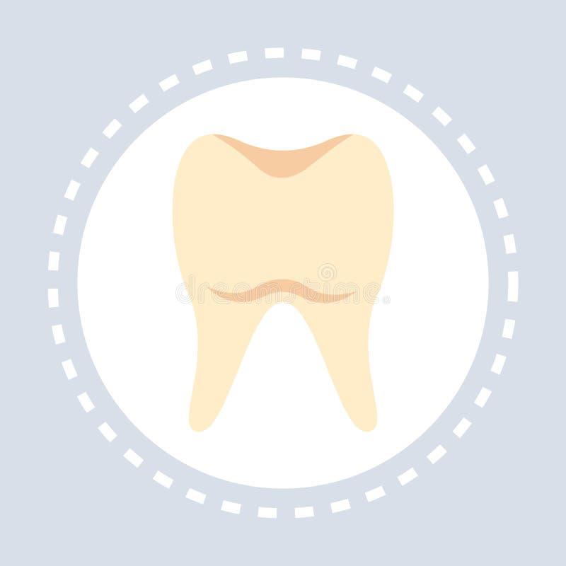 Medicina di logo di servizio medico di sanità dell'icona del dente e concetto di simbolo di salute pianamente royalty illustrazione gratis