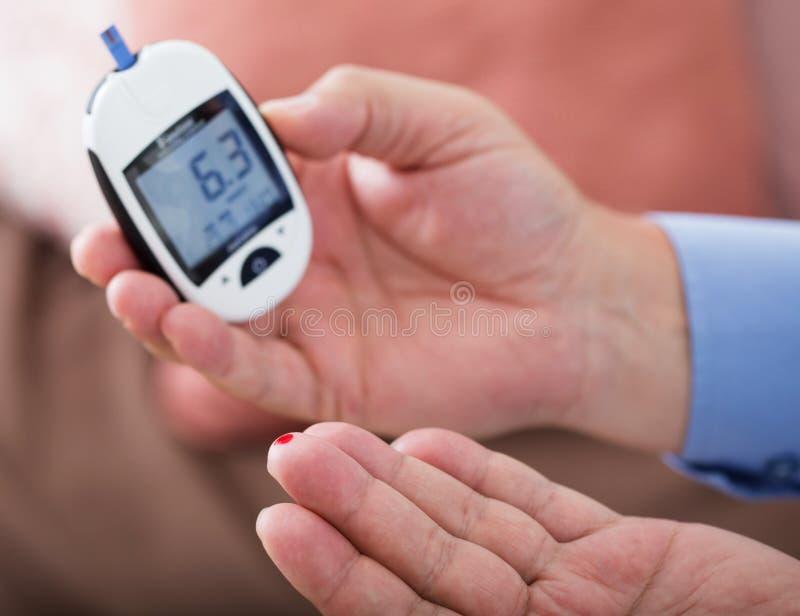 Medicina, diabetes, glycemia foto de stock