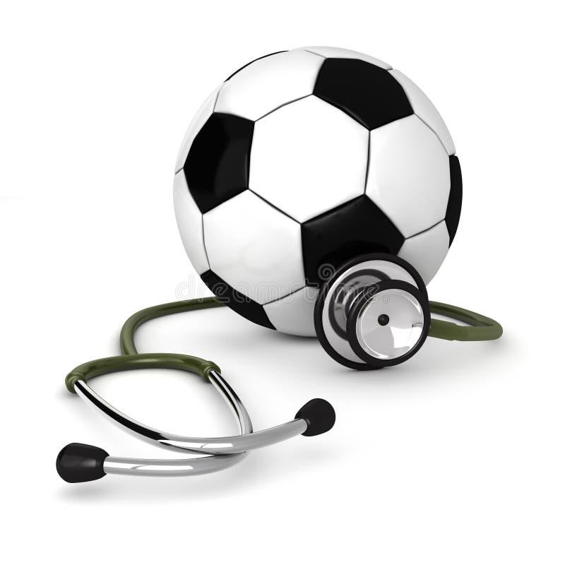 Medicina do futebol ilustração stock