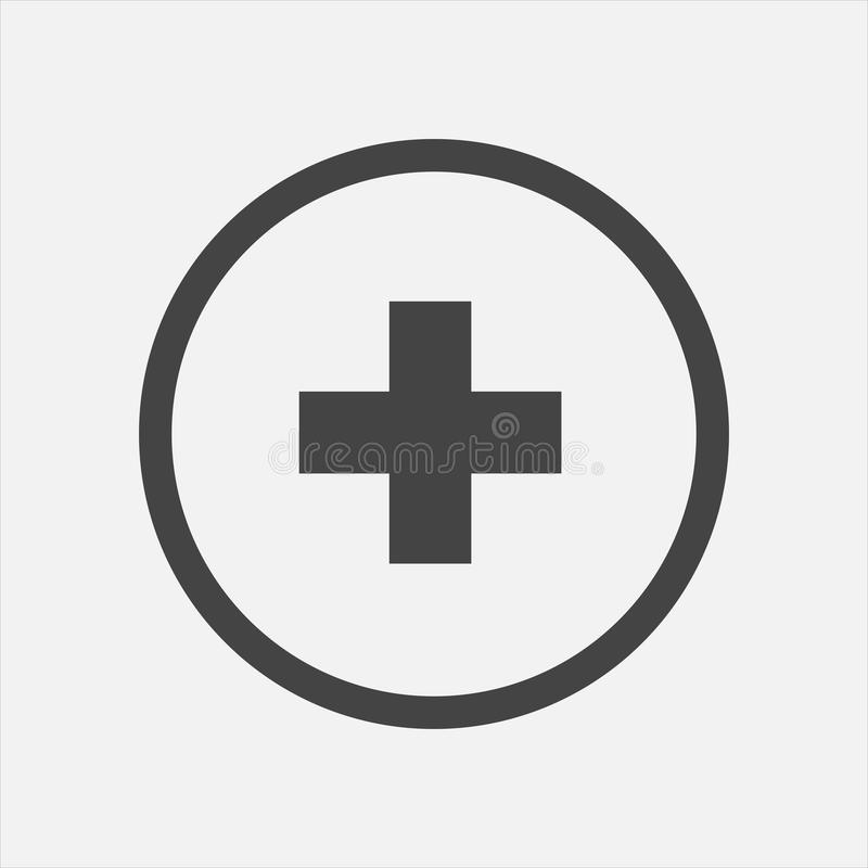 Medicina do hospital do ícone do vetor Ilustração transversal médica na A.A. ilustração royalty free
