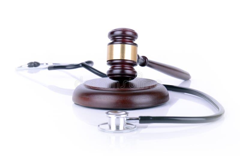 Medicina e legge fotografie stock