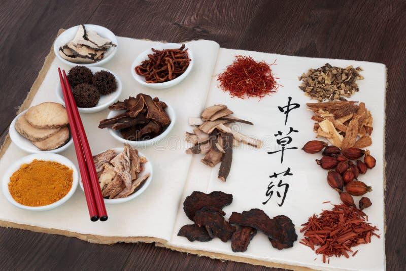 Medicina erval chinesa fotografia de stock