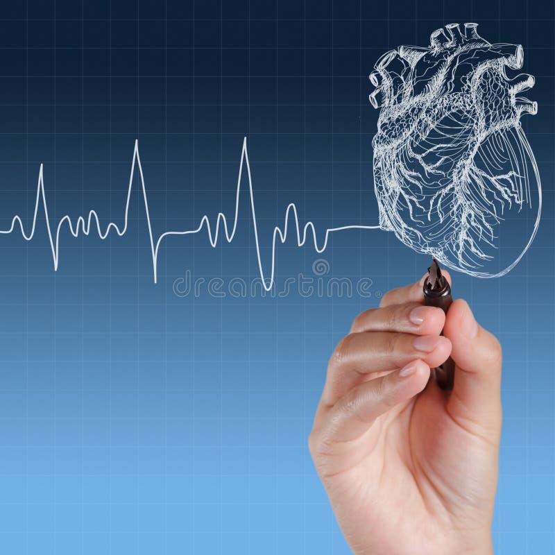 Medicina, gráfico de la mano imagenes de archivo