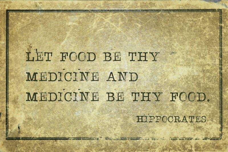 Medicina Hipócrates de la comida imágenes de archivo libres de regalías