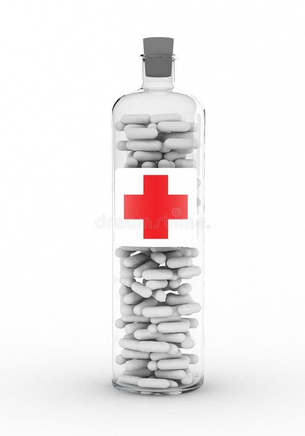 Medicina no botle ilustração stock