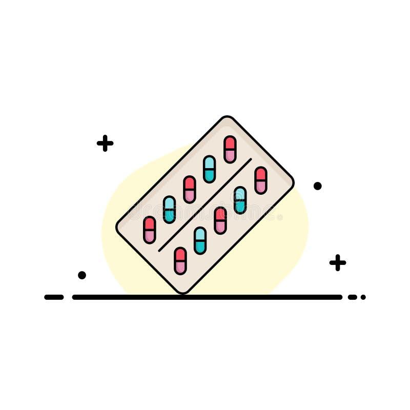 medicina, píldora, drogas, tableta, vector plano del icono del color del paquete libre illustration