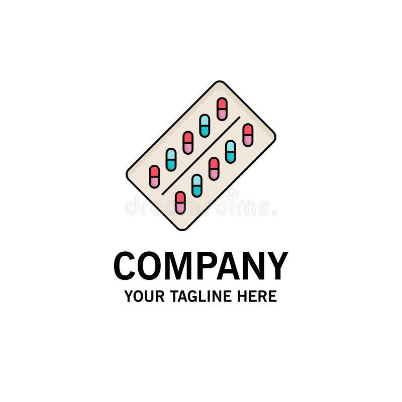 medicina, píldora, drogas, tableta, vector plano del icono del color del paquete stock de ilustración