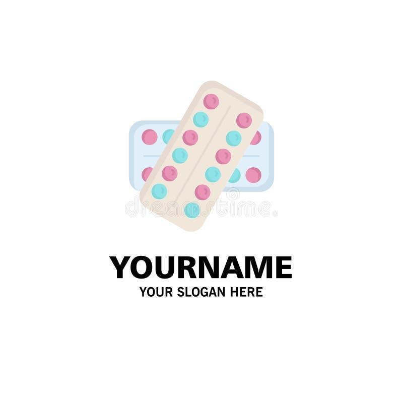 medicina, píldora, drogas, tableta, vector plano paciente del icono del color stock de ilustración