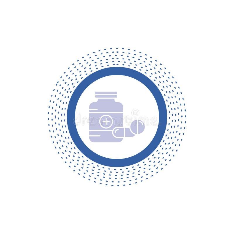 medicina, p?ldora, c?psula, drogas, icono del Glyph de la tableta Ejemplo aislado vector libre illustration