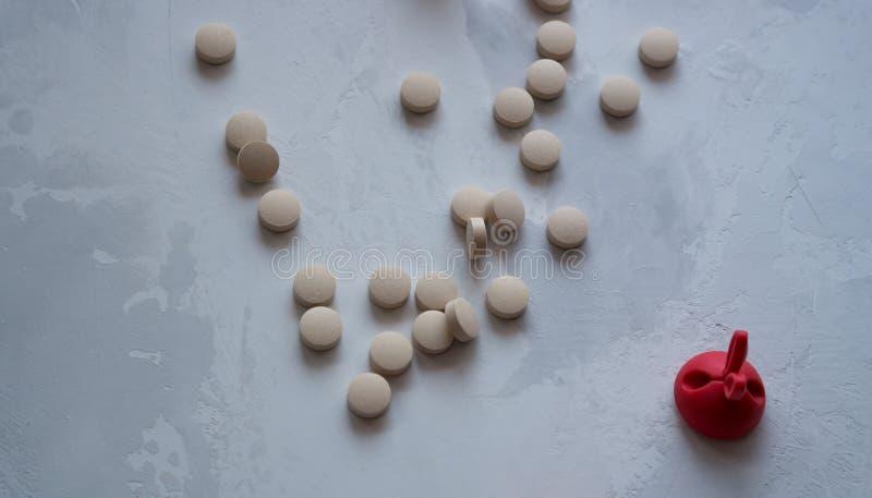 Medicina: pillole e vitamine fotografie stock