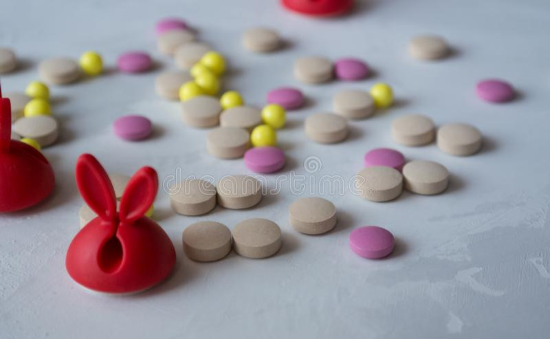 Medicina: pillole e vitamine fotografia stock
