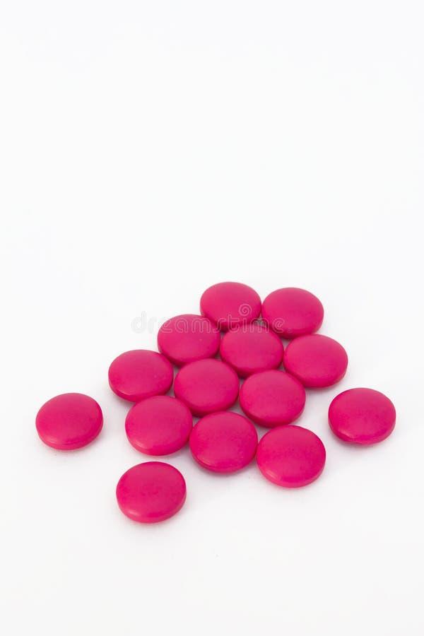 Medicina rosada imagenes de archivo